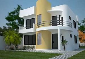 casas pequenas de dos pisos mexicanas Plano de casa moderna de 161 m2 y de 2 plantas Ideas