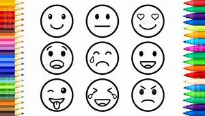 Emoji Faces Coloring Pages Download
