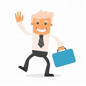 Feliz hombre de negocios con un maletín Descargar Vectores gratis