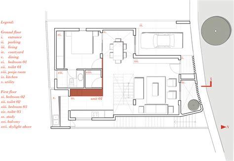 architectural plans folding steel shutters reveal interior of betweenspaces