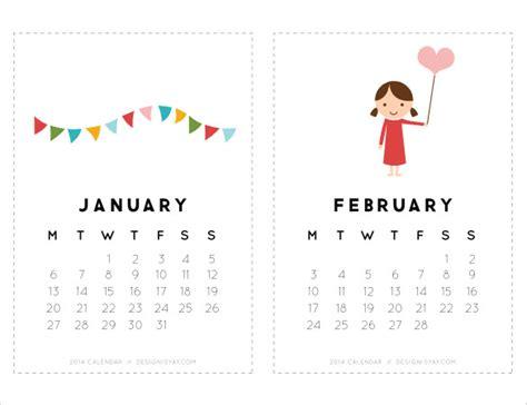 cute calendar templates   ms word vector