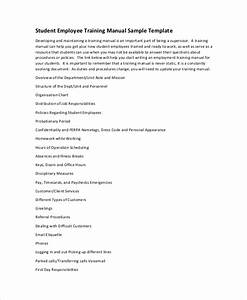 10 training manual template free sample example for Staff training manual template