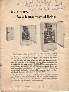 1947 Frigidaire Refrigerator Manual