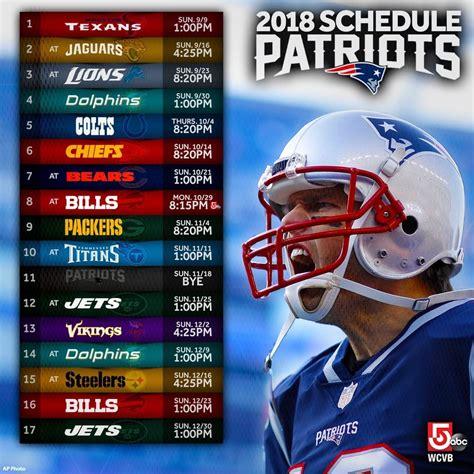patriots nfl schedule released heres  path
