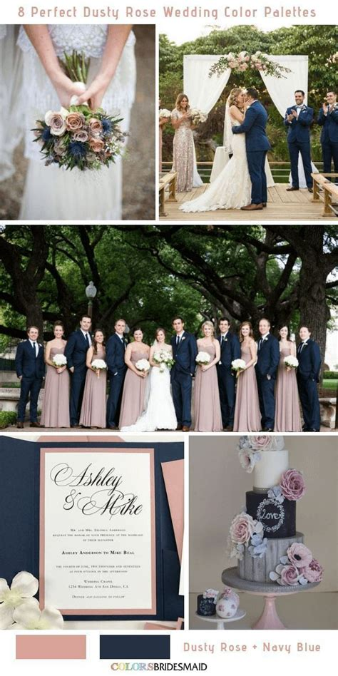 8 Perfect Dusty Rose Wedding Color Palettes for 2019 No 7