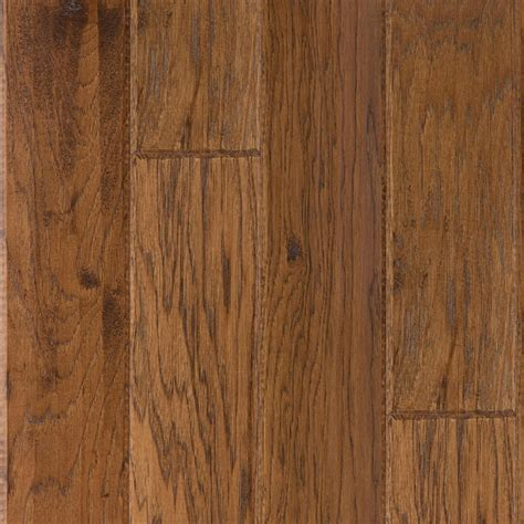 hardwood flooring exles shop lm flooring 0 377 in hickory locking hardwood flooring sle autumn at lowes com
