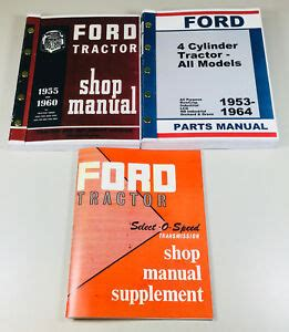 ford   series tractor service repair shop