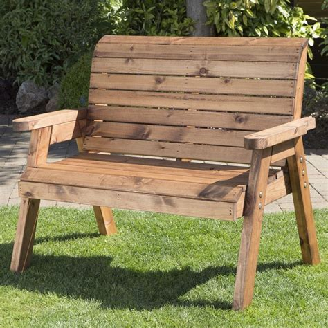 Wooden Outdoor Furniture by 2 Seater Traditional Scandinavian Redwood Garden Bench
