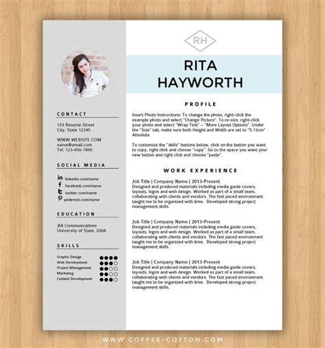 21895 resume template microsoft word 2 instant resume template cover letter editable