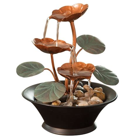 bits  pieces indoor water lily water fountain small