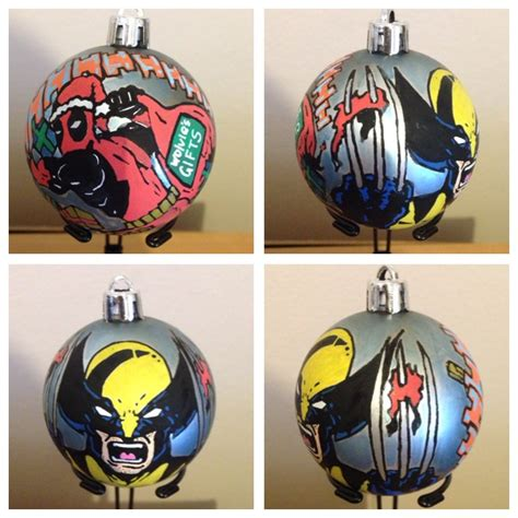 wolverine deadpool christmas decoration  nicitadesigns
