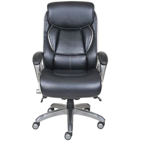 ergonomic leather executive office chair in black 44942