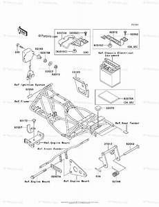 Kawasaki Atv 2003 Oem Parts Diagram For Frame  U0026 Fittings