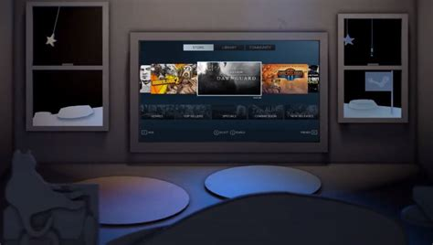Steam Introduces Big Picture, Brings Games And Friends To Craftsman Style Living Room Furniture Sherwin Williams Colors For Rooms Decorating With Dark Brown Sofa White Corner Tv Units Desk Interior Paint Small Wallpaper Design