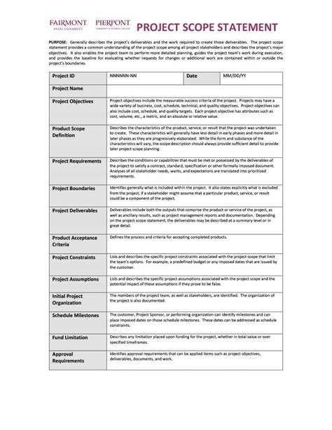 Project Management Final Report Template