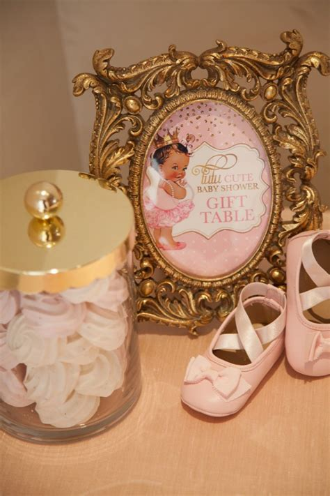 pink  gold tutu cute baby shower baby shower ideas