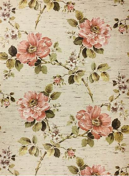 Floral Wallpapers Flower Flowers 1960s Patterns Authentic