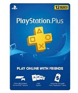 sony playstation year membership subscription card