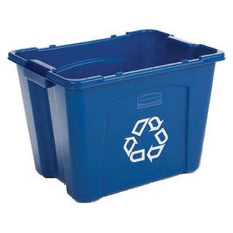 Rubbermaid Commercial Stackable Recycling Bin, 14 Gallon