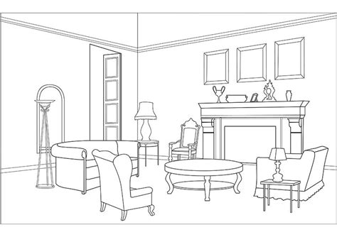 living room coloring pages   print