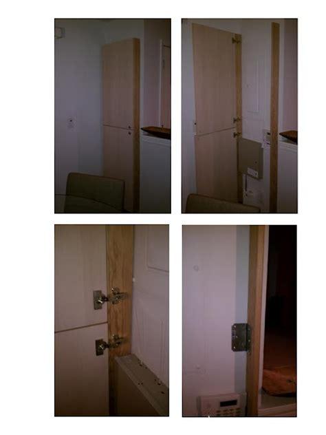 door cover  hide pipes  breaker box basement remodel