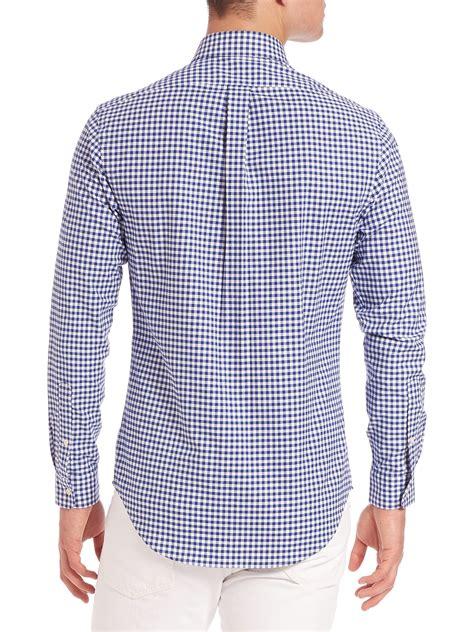 lyst polo ralph lauren slim fit gingham oxford shirt