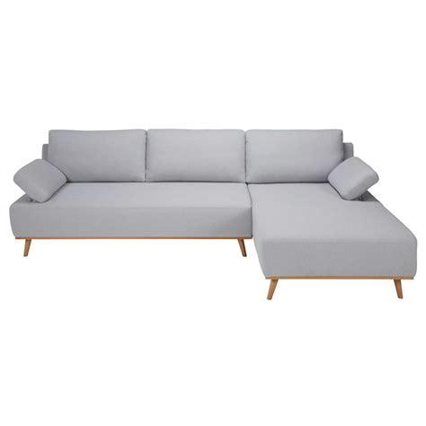 canapé 5 places droit canapé d 39 angle droit 5 places en coton gris clair