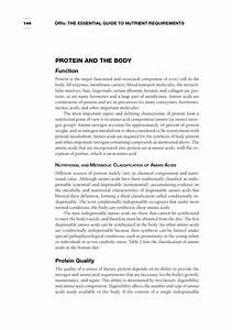 Protein And Amino Acids