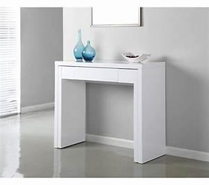Console gigogne SYBILLE Blanc Tables D'appoint Et Consoles BUT