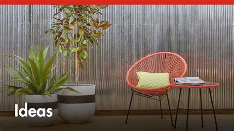 diy corrugated iron feature wall diy  bunnings youtube