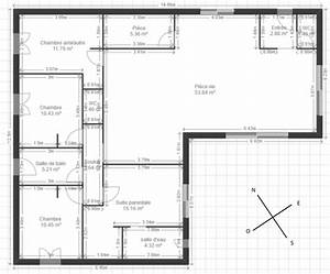 plan maison plein pied 123m2 8 messages With idee de plan de maison