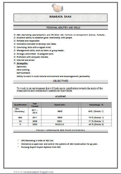 marketing and resume on