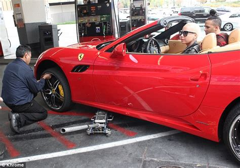 Amber Rose Takes Her Brand New Ferrari Back To The Shop