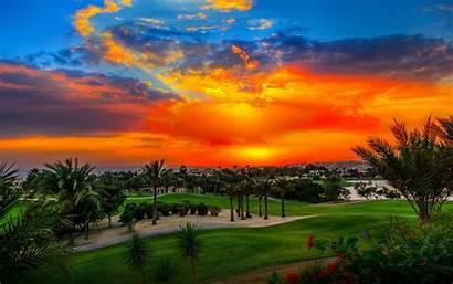 Sunset Desktop Golf Tennis Fall Scenes Wallpapers
