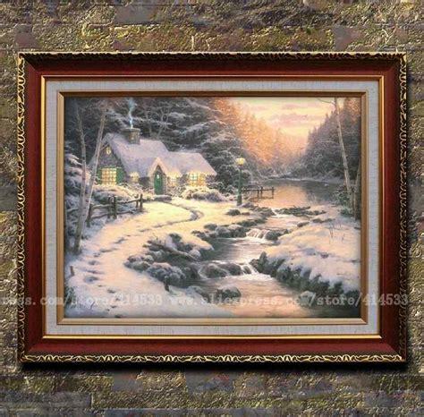 Home Interiors Kinkade Prints by Prints Of Kinkade Painting Evening Glow Snow