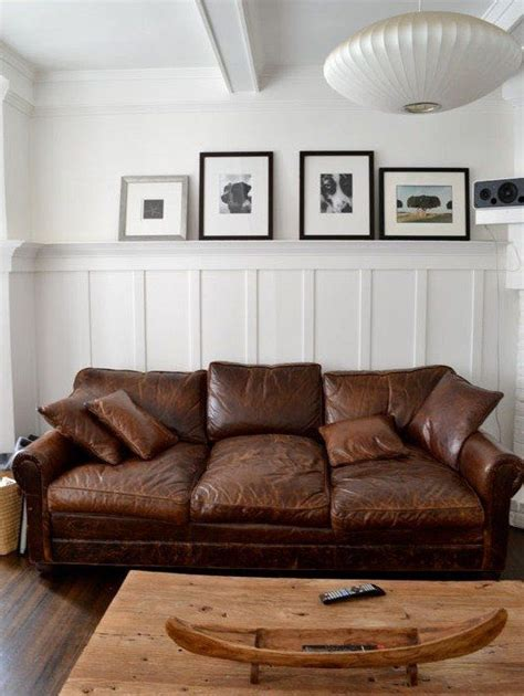 Apartment Therapy Leather Sofa by 25 Best Ideas About Distressed Leather On
