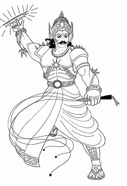 Drawings Colouring Characters Duryodhana Behance Project