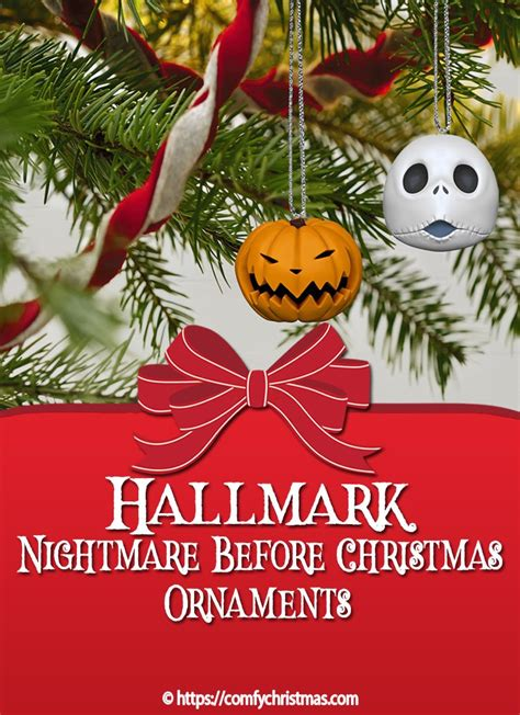 nightmare  christmas hallmark ornaments comfy