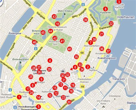 Copenhagen Tourist Map