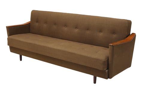 mid century modern sofa bed danish mid century modern teak sleeper sofa bed june