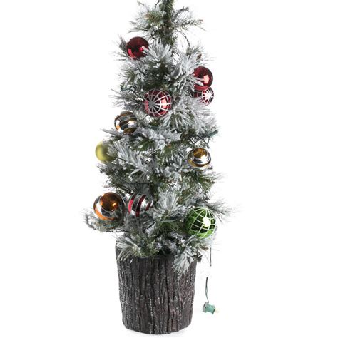 decorated pre lit tabletop artificial christmas tree