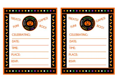 candy corn halloween party printables catch  party