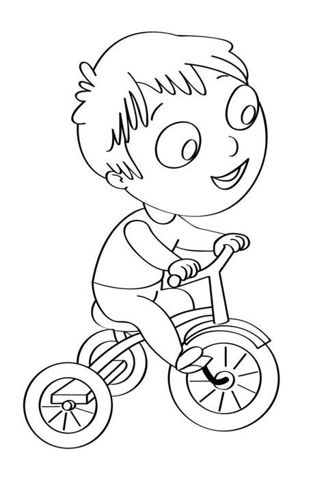colorare on line gratis per bambini disegno per bambini da colorare gratis bambino bicicletta