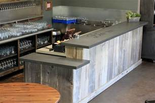 White Kitchen Island With Drop Leaf Concrete Bar Top Craftsman Basement San Francisco By Concrete Craftsman