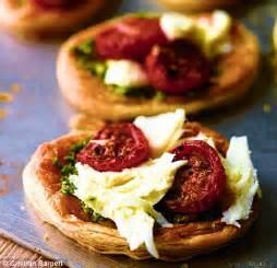 hairy bakers tomato mozzarella  pesto tarts