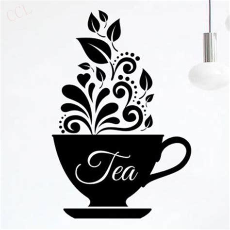love tea cup kitchen wal sticker vinyl decal art restaurant decor coffee art dc in wall stickers