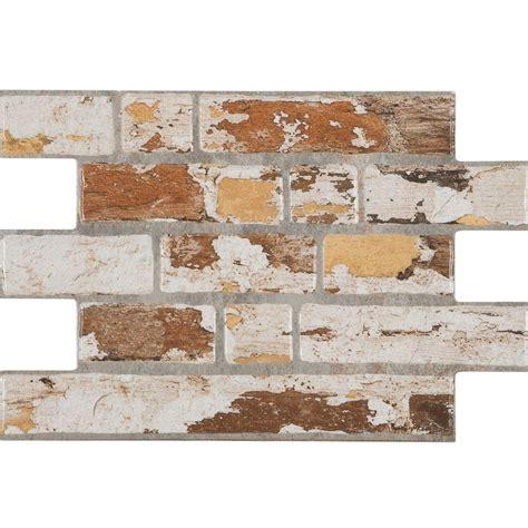 brick effect kitchen wall tiles archaic painted brick slip effect tiles millhouse 7954
