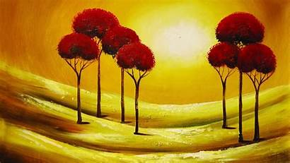 Abstract Painting Wallpapers Oil Trees Painted Paintings