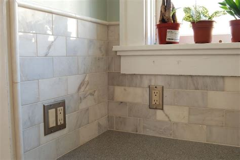 home depot marble subway tile kitchen