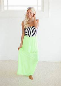 pelling Tube Top Maxi Dress in Neon from Modern Vintage